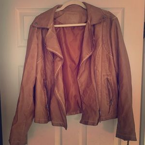 Brown leather jacket - max studios